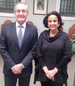 Begoña Sánchez Ramos con D. Vicente Folgado, Presidente de la Comisión de RSE y Emprendimiento de CIERVAL